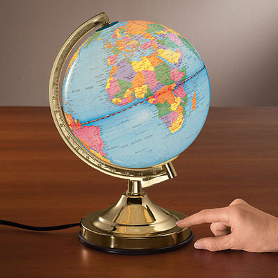 Realistic Earth World Globe Touch Lamp Educational Geography Home Decor Gift New