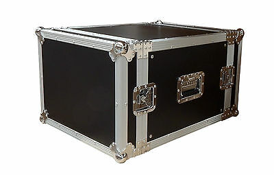 8 RU Rack Road Case with Front and Rear Lids HD Flight Case