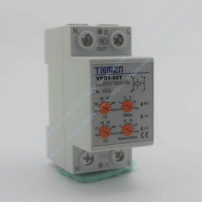 40A 220V Din rail automatic reconnect over voltage