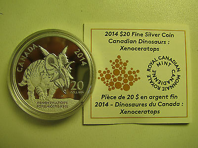 2014 Proof $20 Dinosaurs of Canada #3-Xenoceratops Foremostensis COIN&COA ONLY