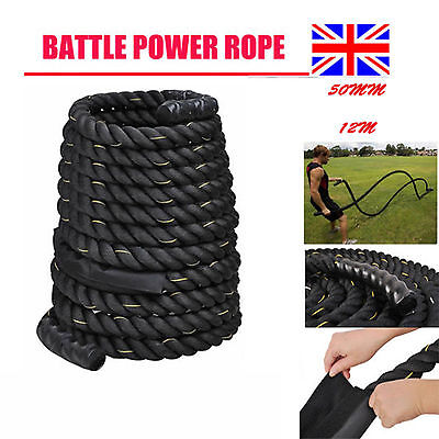 Battle Power Rope 40mm Battling Sport Bootcamp Gym  Fitness Training 9M