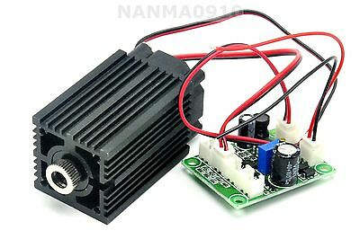 Focusable 300mW 635nm 638nm Orange Red Dot Laser Diode Module TTL + Fan 12V