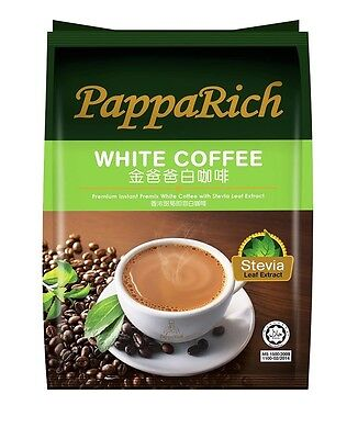 PappaRich Premium Instant Premix White Coffee with Stevia Leaf Extract 30g X 12S