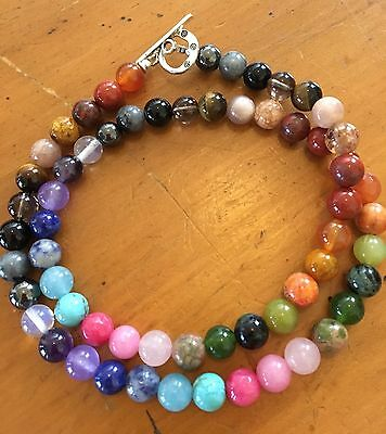 ॐ Crystal Bliss ॐ Chakra Clearing Balancing Gemstone,Reiki Charged,Yoga Necklace