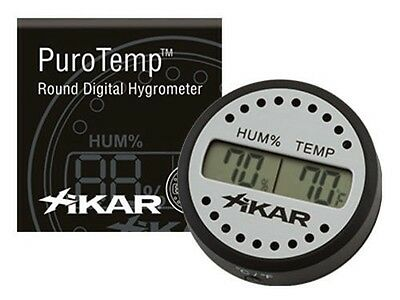 XIKAR PuroTemp Digital Round Cigar Hygrometer with Thermometer 832XI - MCO