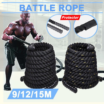 9/12/15M New Battle Rope Training Battling Sport Exercise Fitness Gym BOOTCAMP