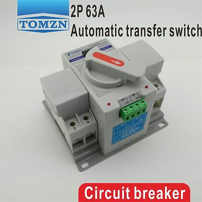 2P 63A 230V MCB type Dual Power Automatic transfer switch ATS