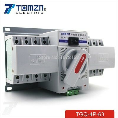 4P 63A 380V MCB type Dual Power Automatic transfer switch ATS