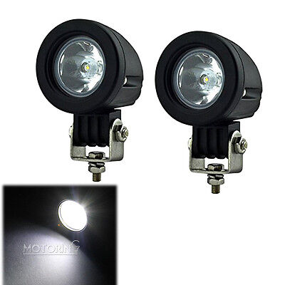 2X 10W Cree LED Work Light Spot Lamp Driving Fog Car Motorcycle Boat ATV SUV 12V