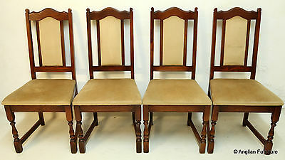 4 Old Charm Oak Dining Chairs Tudor Brown FREE Nationwide Delivery