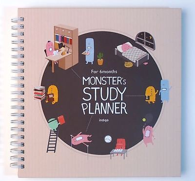 Monster's Study Planner (Beige) with Translation Sheet and Tracking Number