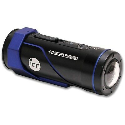 ION Air Pro 3 Action Camcorder- Full HD, Built-in WiFi, Waterproof, Black & Blue