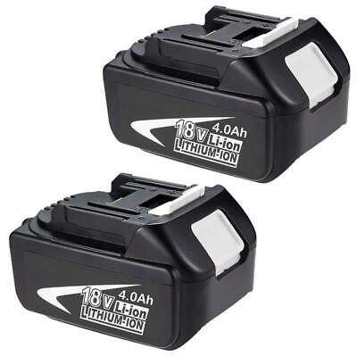2x For Makita 18V 4.0AH BL1830 BL1815 LXT Lithium Ion Battery Cordless