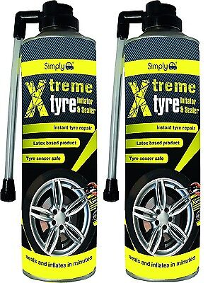 2X Tyre Weld Tire Seal 500ml Emergency Repair