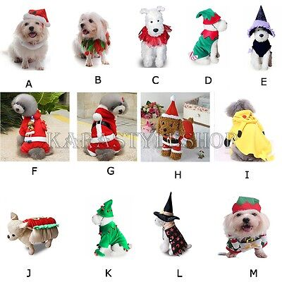 Christmas Halloween Pet Dog Cat Clothes Costume Dress Cosplay Outfit Apparel