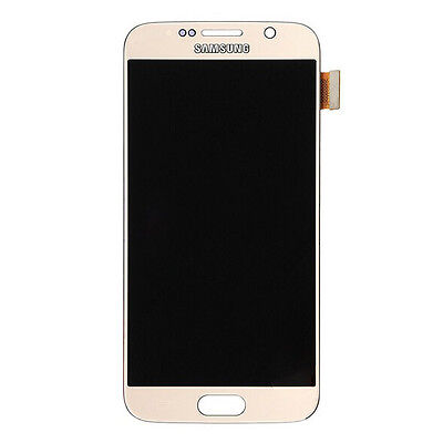 B Grade LCD Screen Touch Digitizer Full Assembly for Samsung Galaxy S6 - Gold