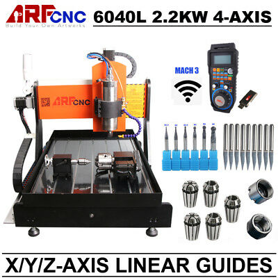 New 2.2KW USB Mach3 3axis CNC router 6040 Engraving Milling Machine Z-axis 65mm
