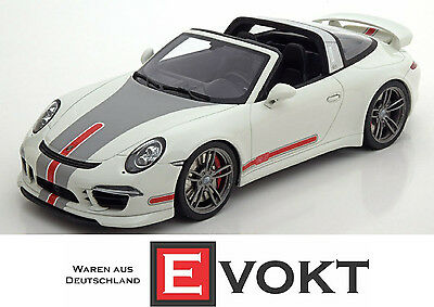 GT Spirit Porsche 911 (991) Targa Tech Art White Model Car 1:18 Limited Genuine