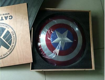 "24"" 1/1 Scale The Avengers Captain America Metal Shield For Cosplay or Others"