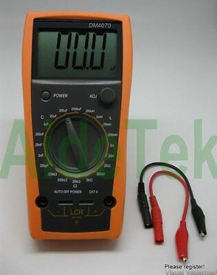 DM4070 LCR meter capacitance Inductance Resistance self-discharge compared with