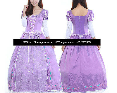 Rapunzel Vestito Carnevale Donna Dress up Tangled Woman Costume RAPUW01