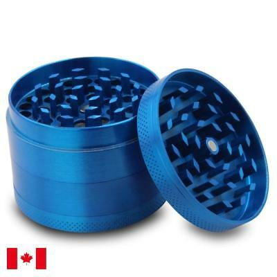 Blue Zinc Alloy 4 Layers 50mm Tobacco Herb Grinder w/ Scraper