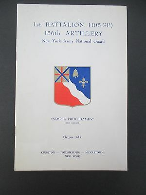 1965 1st BATTALION (105 SP) 156th ARTILLERY New York Army National Guard Booklet