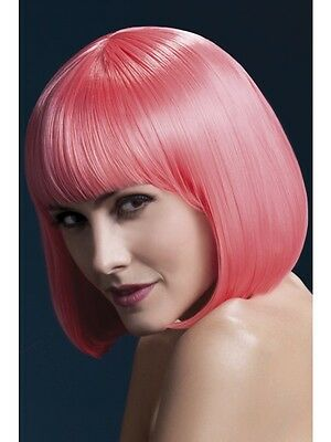 New Adult Women Pink Fever Elise Wig, 13inch/33cm Costume Accessory