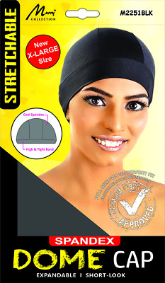 Murry Collection Spandex Dome WIG Cap Breathable / Short-Look X-Large M2251Black
