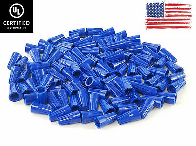 (1000 PC) Blue Twist-On Wire Connectors Conical nuts 22-14 Gauge
