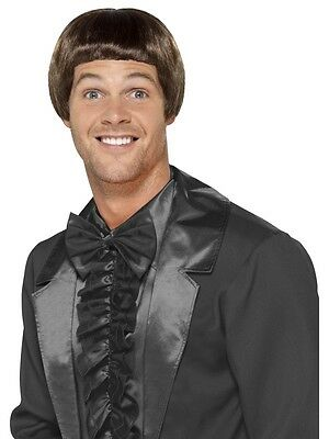 New Adult Men Brown 90's Bowl Cut Wig Costume Accessory
