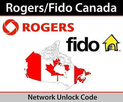Factory Unlock Code Samsung Rogers/ Fido/ Chater  S5 S4 S3 S2 Note 4 3 2 1