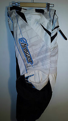 Answer Ladies Motocross Pants, White/ Teal Size 12
