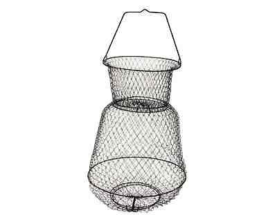 Eagle Claw Camping Hunting Fishing Medium Floating Wire Basket Store Fish Alive