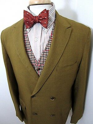 Vtg 1960s MOD Double Breasted jacket 40 L ~ SEARS Union Made ~ blazer sport coat