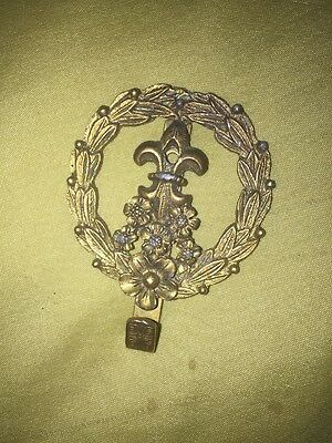 James Papalia 1964 Original Wall Hook Floral Crest