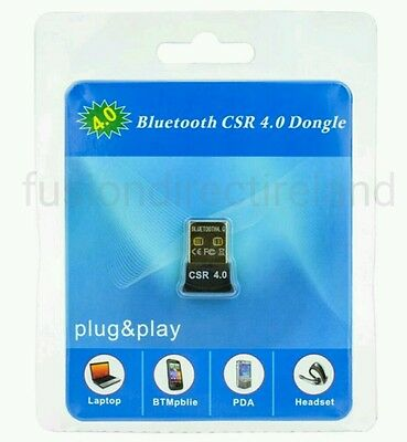 Bluetooth CSR 4.0 Wireless Dongle Adapter EDR Transmitter and Receiver Pc win