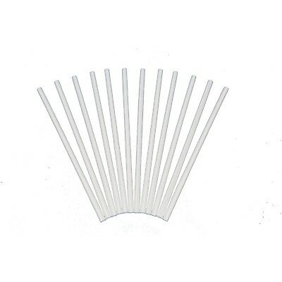 Plastic White Dowel Rods for Tiered Cake Construction 12 Inch X 1/4 Pa... NO TAX