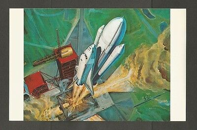John F Kennedy Space Center Nasa Post Card Space Shuttle Lift Off 147045