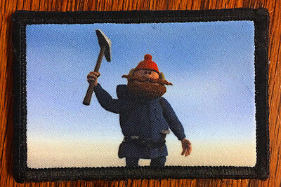 Yukon Cornelius Morale Patch Military Funny Tactical Army Flag USA Badge Hook