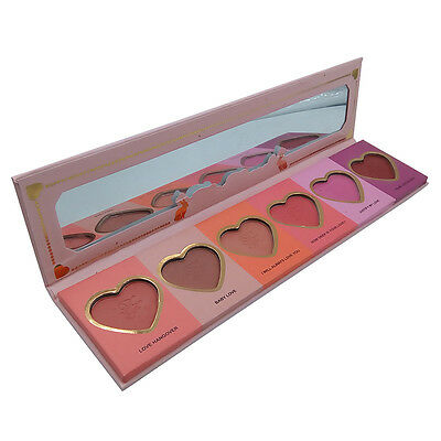 AUTHENTIC Too Faced LOVE FLUSH Blush Wardrobe Palette 6 colors Limited Edition