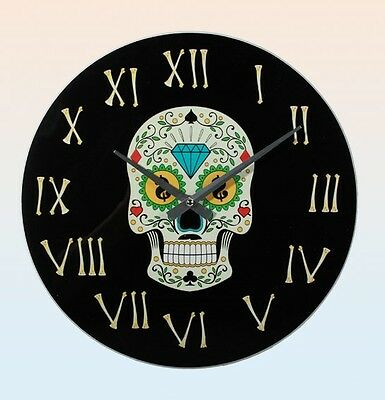 Watch Of Wall Skull Mexican Mexican Glass