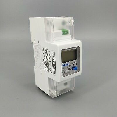 5(65)A 120V 60HZ Single phase Din rail KWH Watt hour energy meter