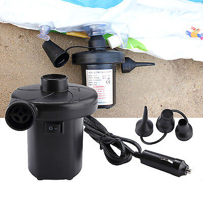 New Electric Air Pump Inflator/Deflator 12V/240V Rechargeable Car/Home Adaptor
