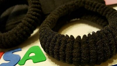 12 Pcs Girls Elastic Hair Ties Band Rope Ponytail Holder Scrunchie black