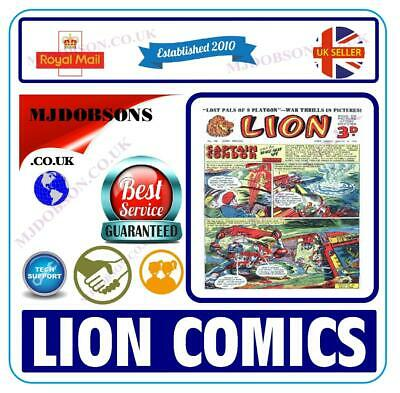 (Md177) Uk Lion Comics Dvd - 213 Issues Includes Viewing Software