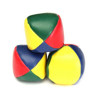 3X Juggling Balls Classic Bean Bag Juggle Magic Circus Beginner Kids Toy