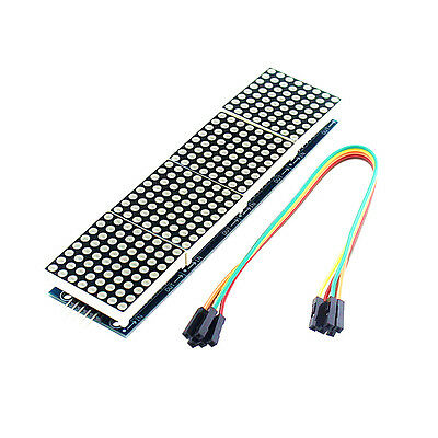 Smart Electronics MAX7219 Dot Matrix Module For arduino Microcontroller 4 In One