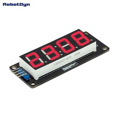 LED display tube module, 4 bits TM1637 driver, 4-Digit, 7-segments, Red Robotdyn