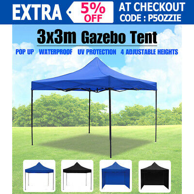 3X3m Gazebo Pop Up Tent Outdoor Folding Foldable Marquee Canopy Party Shade BBQ
